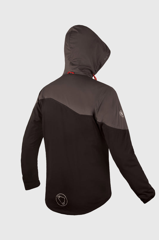 Endura Singletrack Softshell Mens Black Rear
