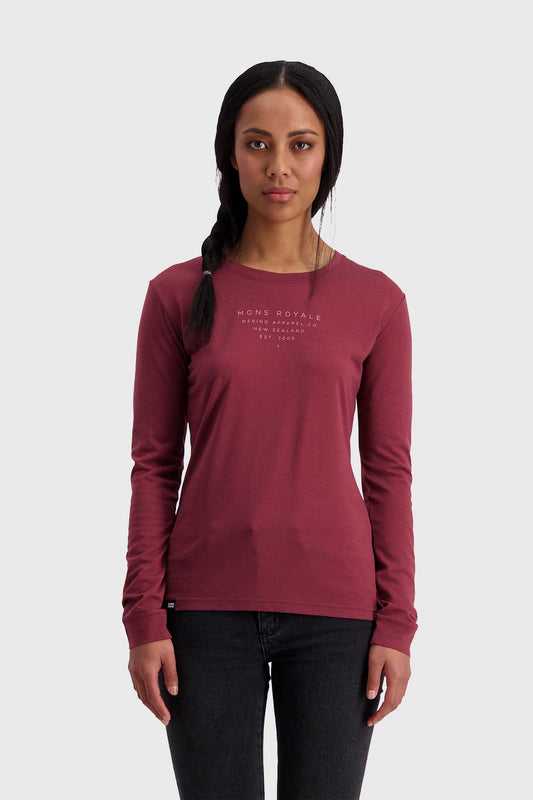 Mons Royale Icon LS Tech Tee - Wild Ginger