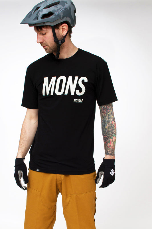 Mons Royale Icon Slant Tee Black Front