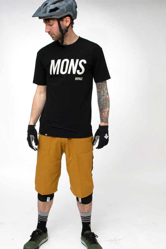 Mons Royale Icon Slant Tee Black Rear