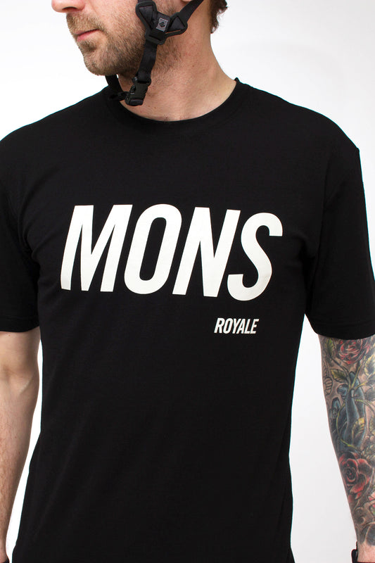 Mons Royale Icon Slant Tee Black