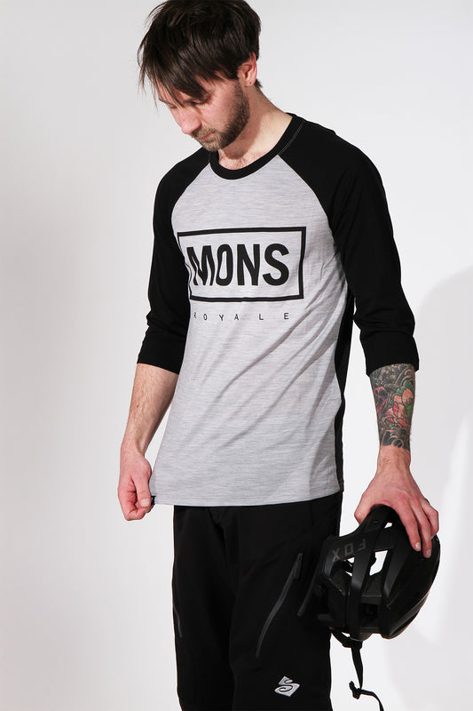 Mons Royale Redwood 3/4 Raglan Black jersey