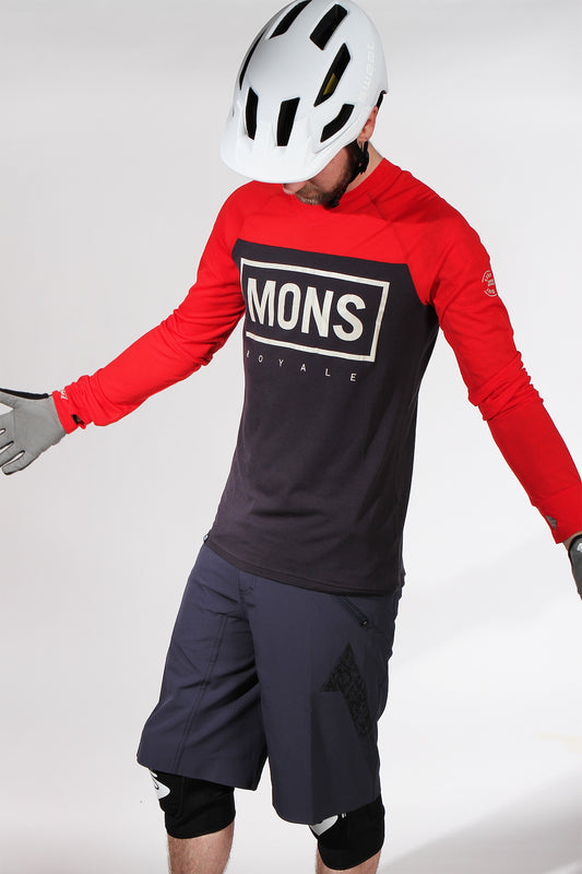 Mons Royale Redwood Long Sleeve Red 9 Iron