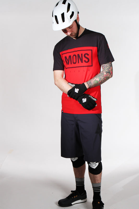 Mons Royale Redwood VT Short Sleeve Jersey Red