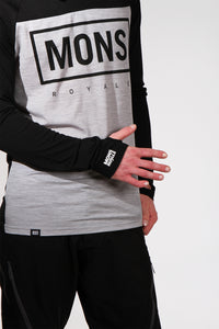 Mons Royale Redwood V Long Sleeve Jersey BlackMarl