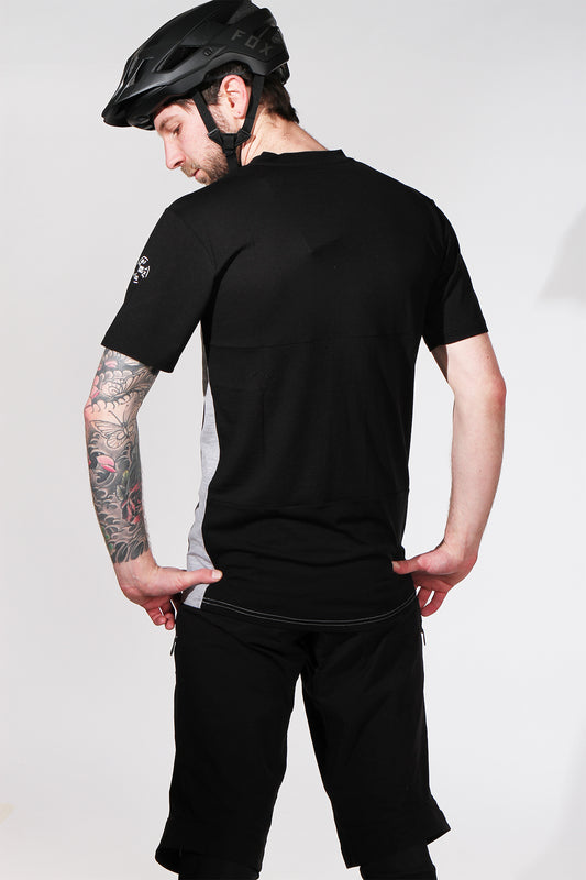 Mons Royale Redwood VT Short Sleeve Black Marl