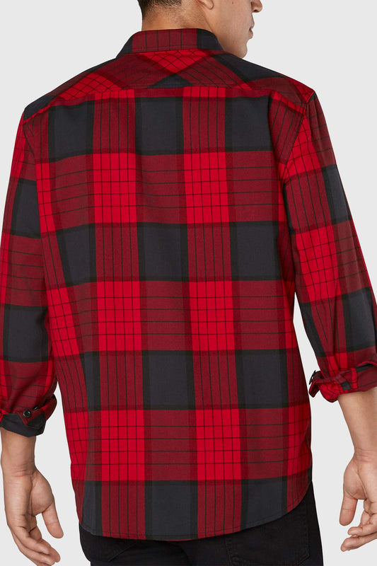 Dakine Reid Tech Flannel Shirt Crimson Red