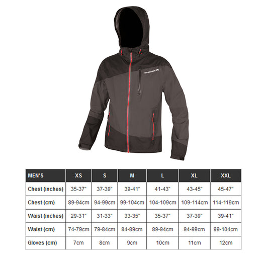 Endura Singletrack Waterproof Jacket Black Size Gu