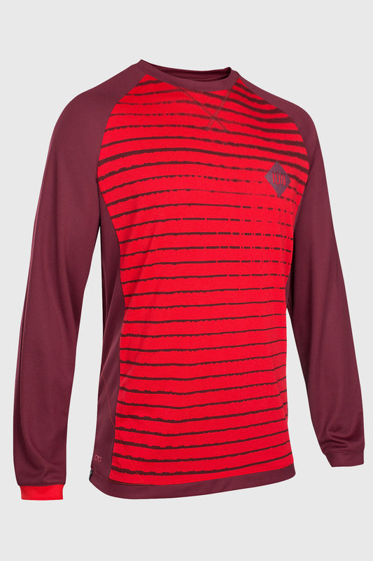 Ion Scrub Amp Tee LS Red Front