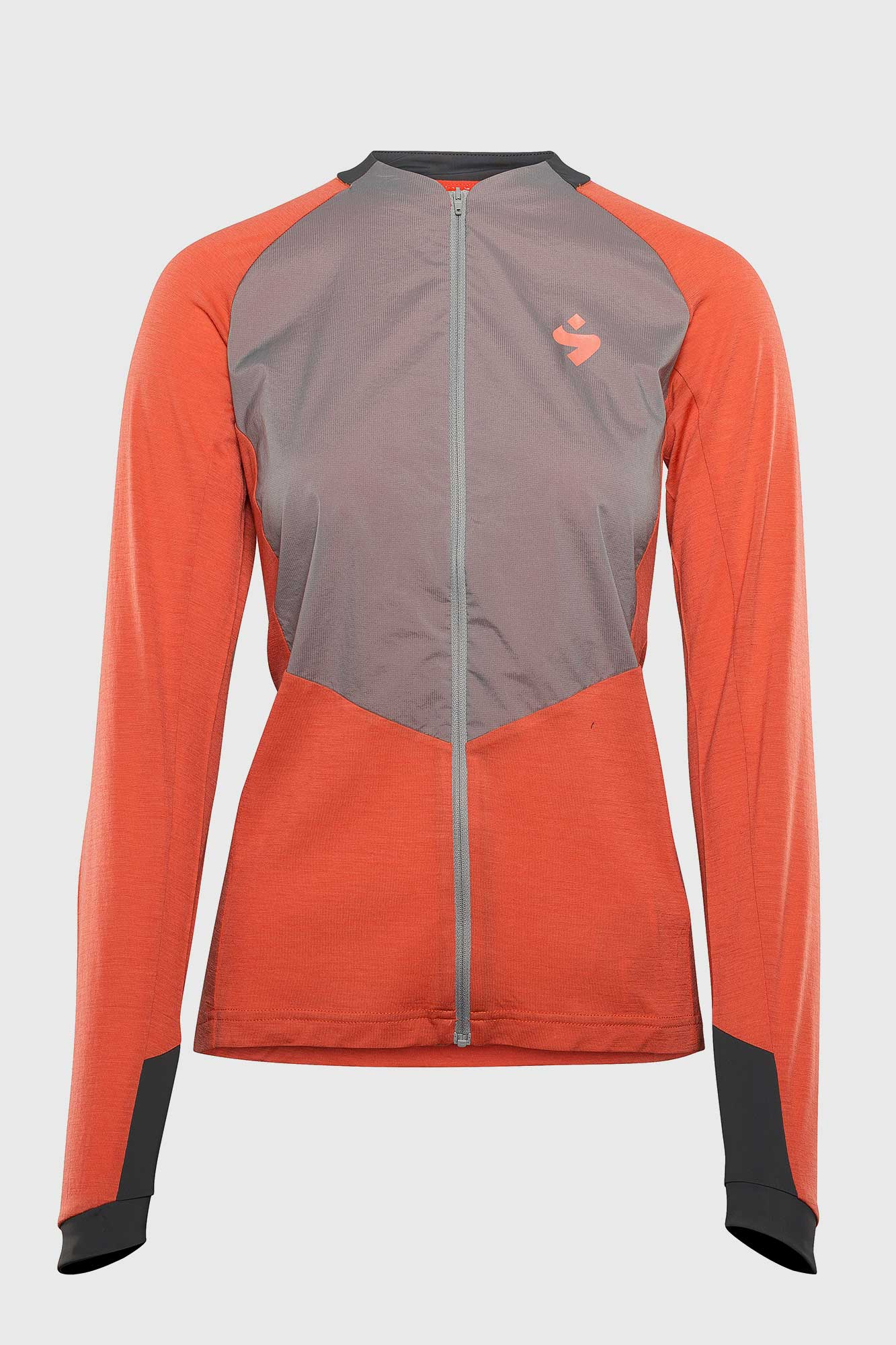 Womens Hunter FZ Wind Merino Coral Jersey