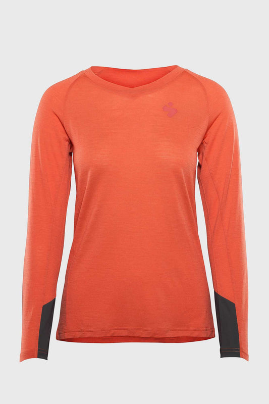 Womens Hunter LS Merino Jersey Coral