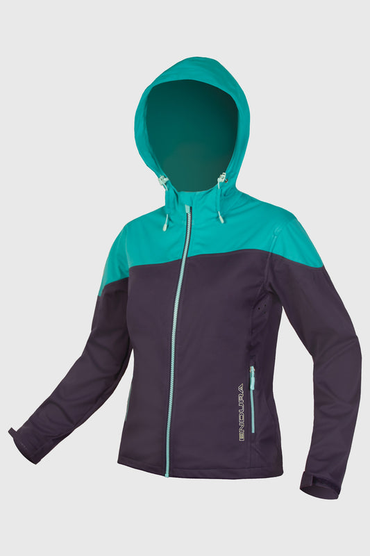 Endura Singletrack Softshell Womens Navy Front