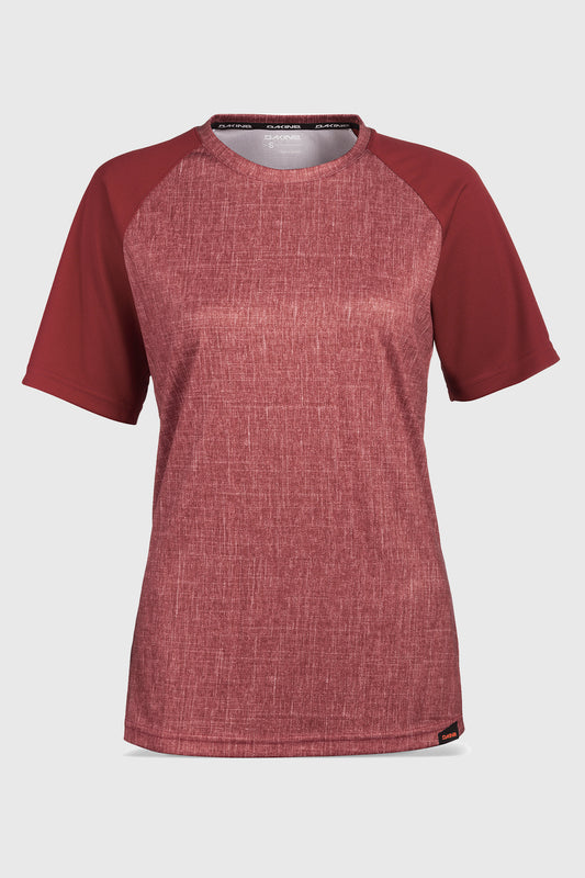 Dakiine Women's Dropout SS Garnet Heather Front