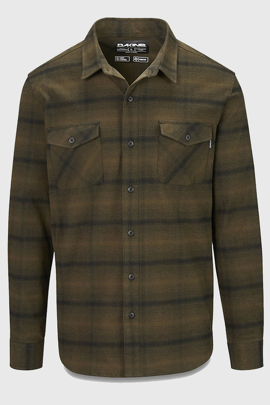 Dakine Underwood Flannel Shirt Dark Olive