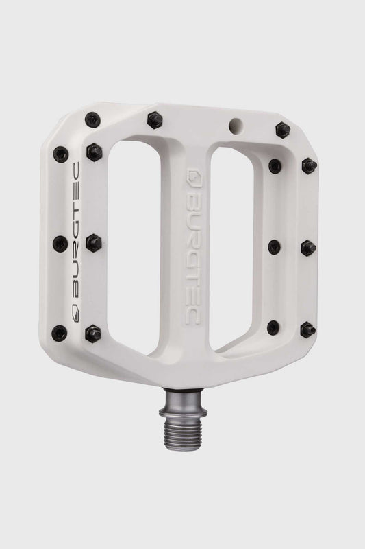 Burgtec Mk4 Composite Flat Pedals - Damn Right White