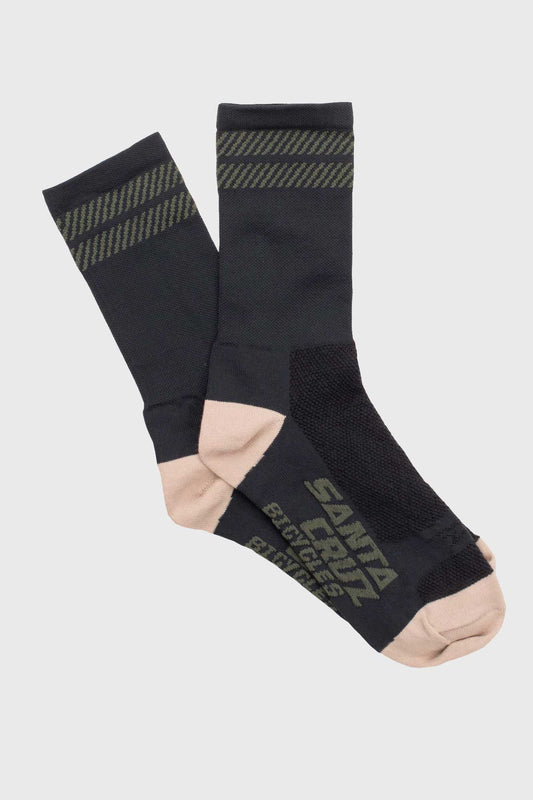 Santa Cruz Double Dash Sock - Black/Tan