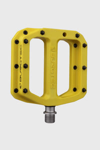 Burgtec Mk4 Composite Flat Pedals - Electric Yellow