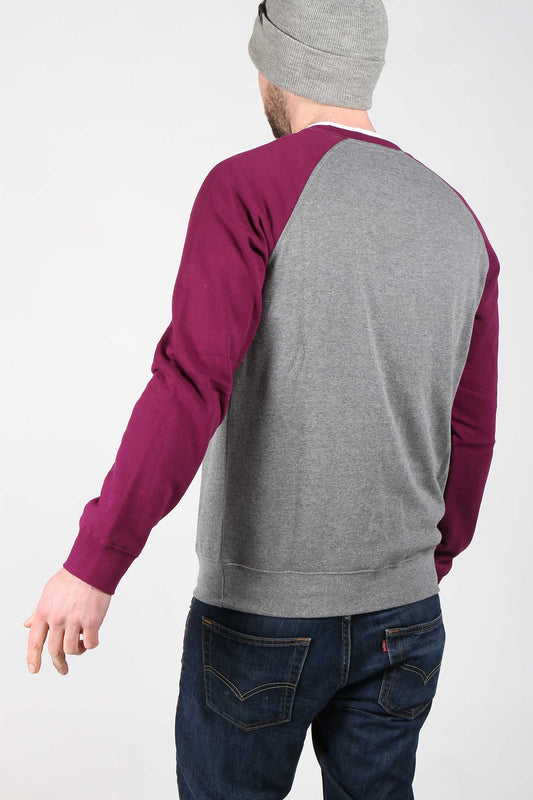 Fox Legacy Crew Pullover Fleece - Dark Purple