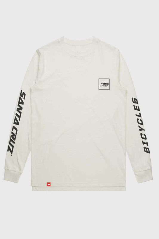 Santa Cruz Square Long Sleeve Tee - White