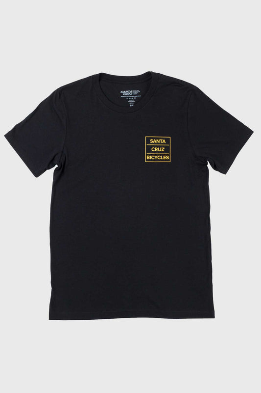 Santa Cruz Square Layer Tee - Black/Gold