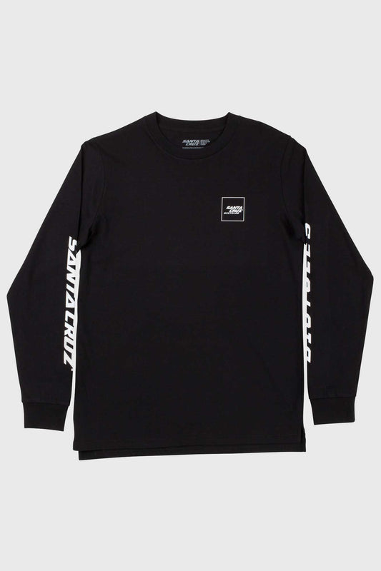Santa Cruz Square Long Sleeve Tee - Black