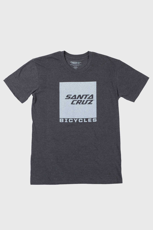 Santa Cruz Squared Tee - Heather/White