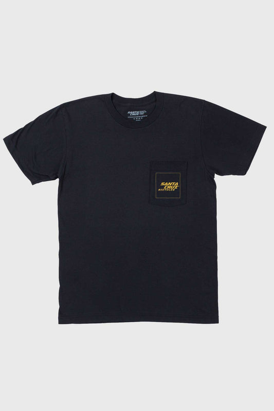 Santa Cruz Square Pocket Tee - Black/Gold