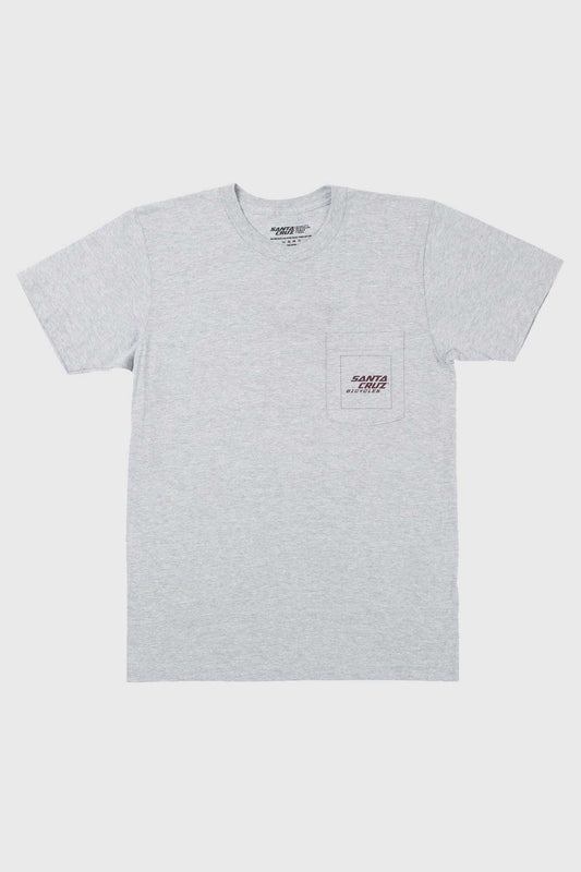 Santa Cruz Square Pocket Tee - Grey/Eggplant