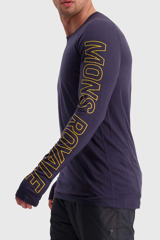 Mons Royale Temple Tech Long Sleeve Merino Jersey 9 Iron Blue