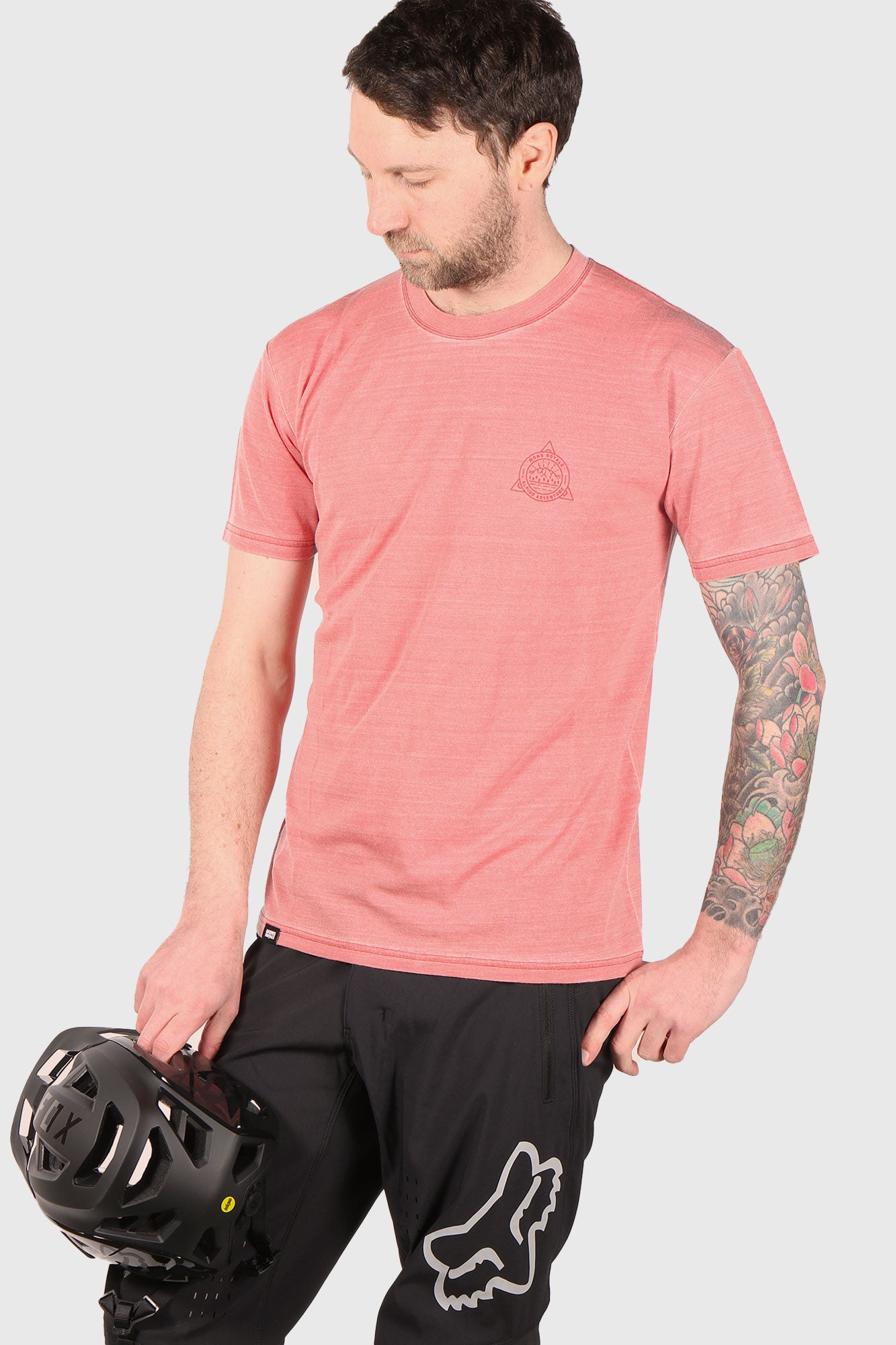 Mons Royale Icon T Garment Dyed - Vintage Red