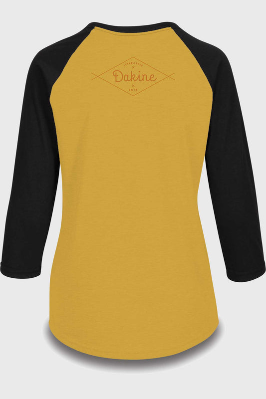 Dakine Womens 3 4 Raglan Tech Tee Golden Glow