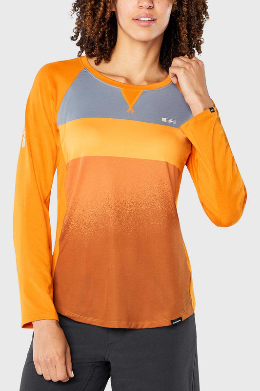 Dakine Womens Xena Long Sleeve Jersey Desert Blocks