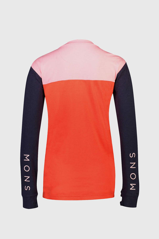 Mons Royale Yotei BF Tech Long Sleeve Jersey Poppy Rose
