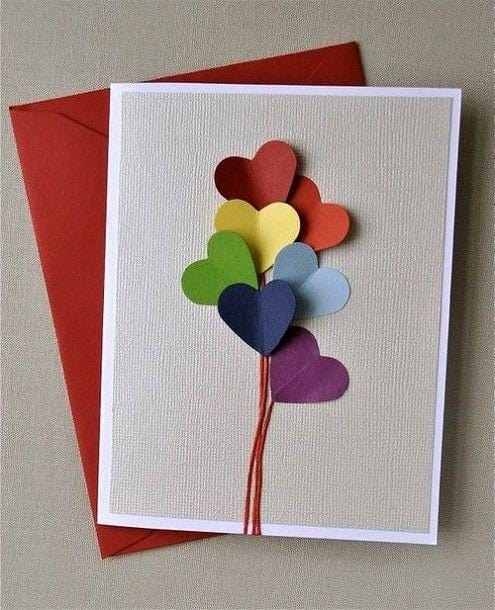 Coloured Envelopes and Homemade Greeting Cards