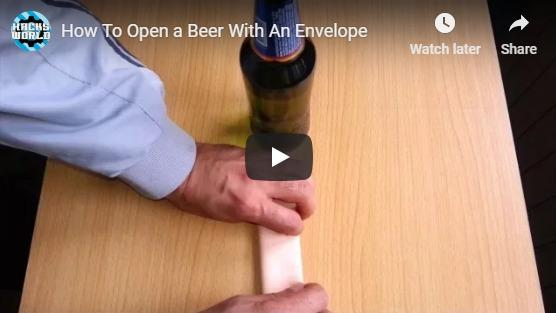 How to open a bottle of beer with an envelope!