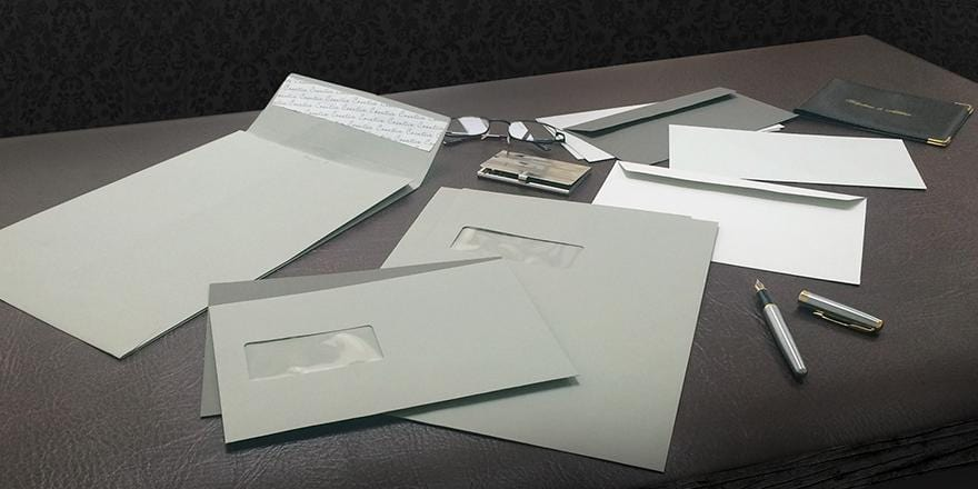 Gorgeous Grey Envelopes