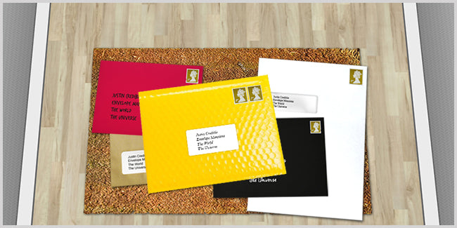 Envelopes on doormat