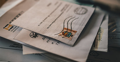 Recycle envelopes with stamps