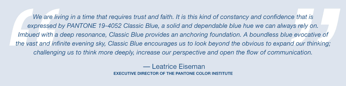 Pantone colour of the year quote