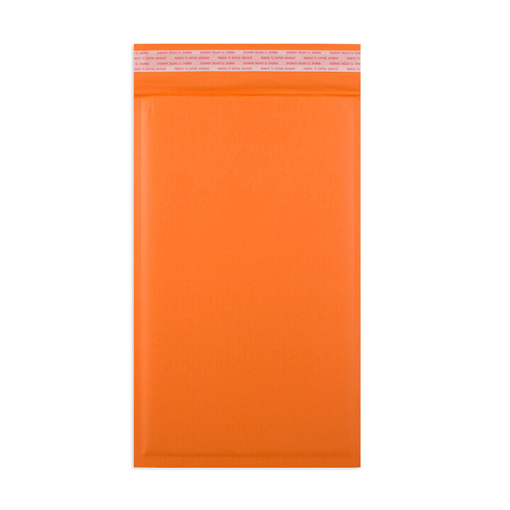 165 x 100mm Orange 180gsm Recyclable Corrugated Bags [Qty 200] (4441012699225)