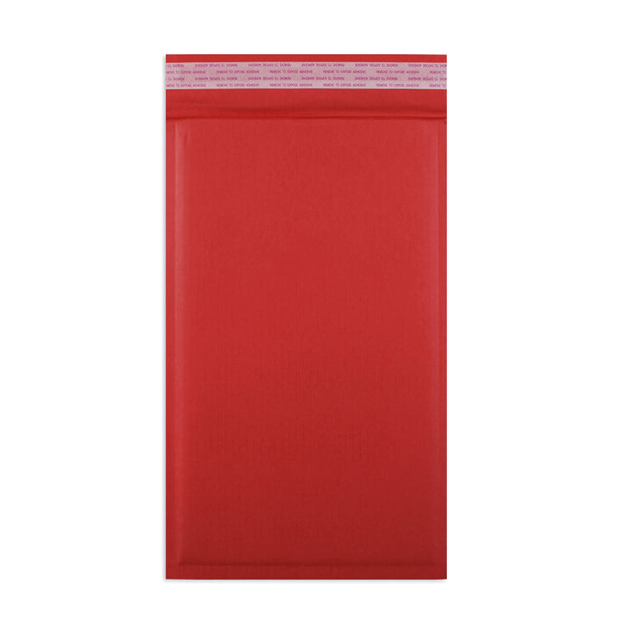 165 x 100mm Red 180gsm Recyclable Corrugated Bags [Qty 200]