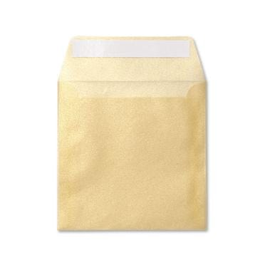 Translucent square gold 125 x 125 peel & seal envelopes (2131266895961)