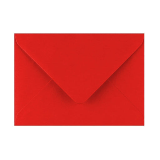 125 x 175 Poppy Red Gummed Diamond Flap Greeting Envelopes [Qty 1,000] (2131158925401)