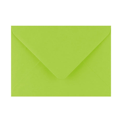 125 x 175 Bright Green Gummed Diamond Flap Greeting Envelopes [Qty 1,000] (2131124781145)