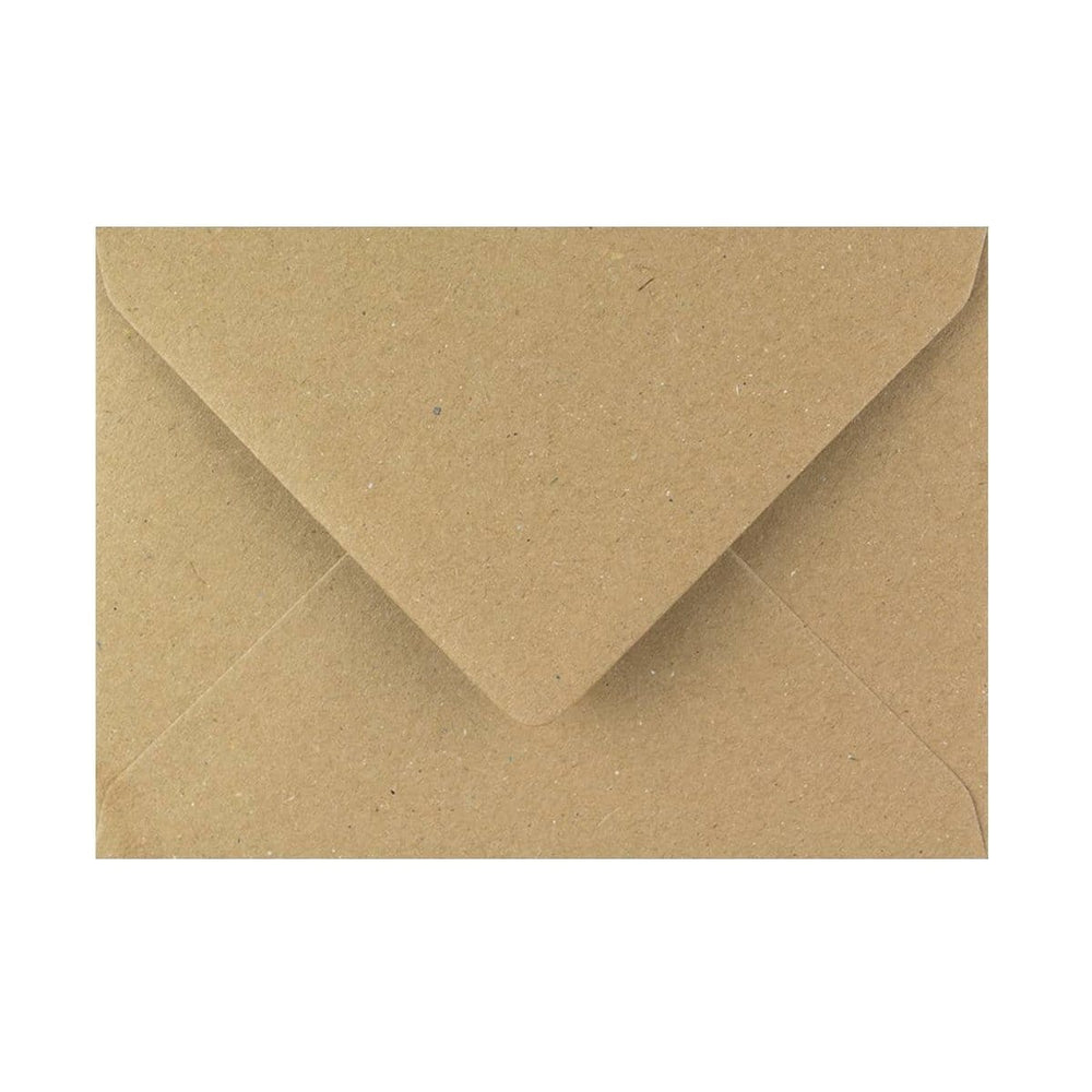 125 x 175 Brown Fleck Gummed Diamond Flap Greeting Envelopes [Qty 1,000] 5 x 7""