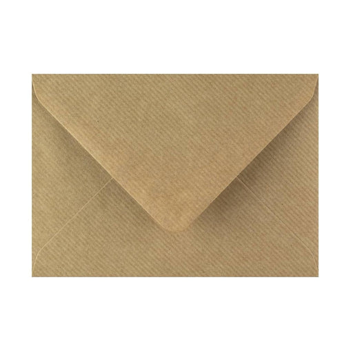 125 x 175 Brown Ribbed Gummed Diamond Flap Greeting Envelopes [Qty 1,000] (2131127894105)
