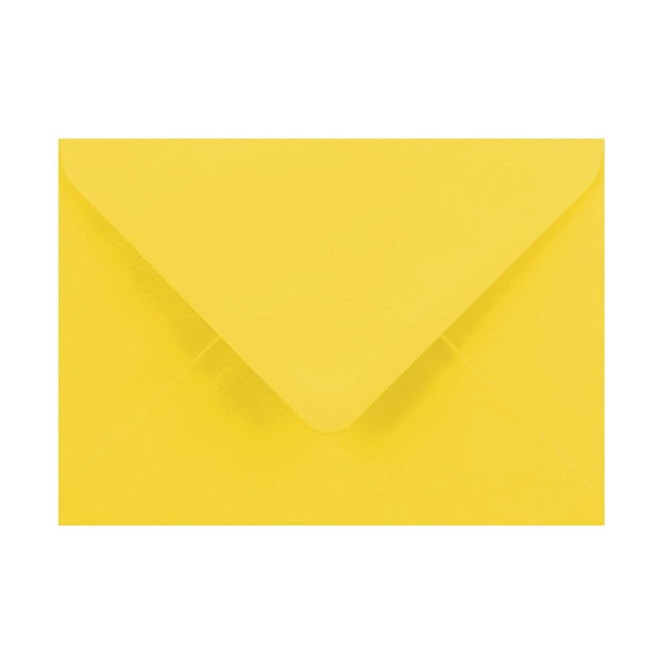 125 x 175 Canary Yellow Gummed Diamond Flap Greeting Envelopes [Qty 1,000] (2131131564121)