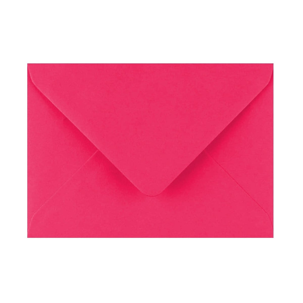 125 x 175 Fuchsia Pink Gummed Diamond Flap Greeting Envelopes [Qty 1,000] (2131148111961)