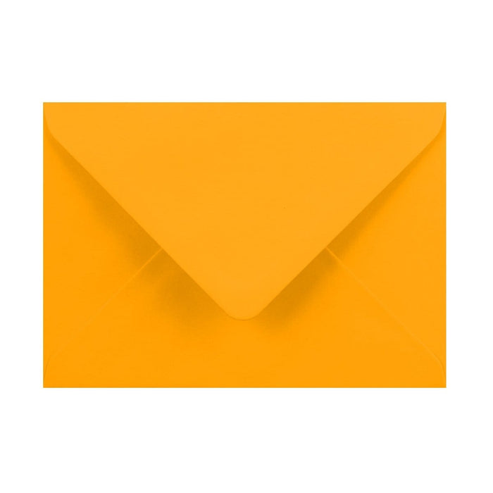 125 x 175 Harvest Yellow Gummed Diamond Flap Greeting Envelopes [Qty 1,000]