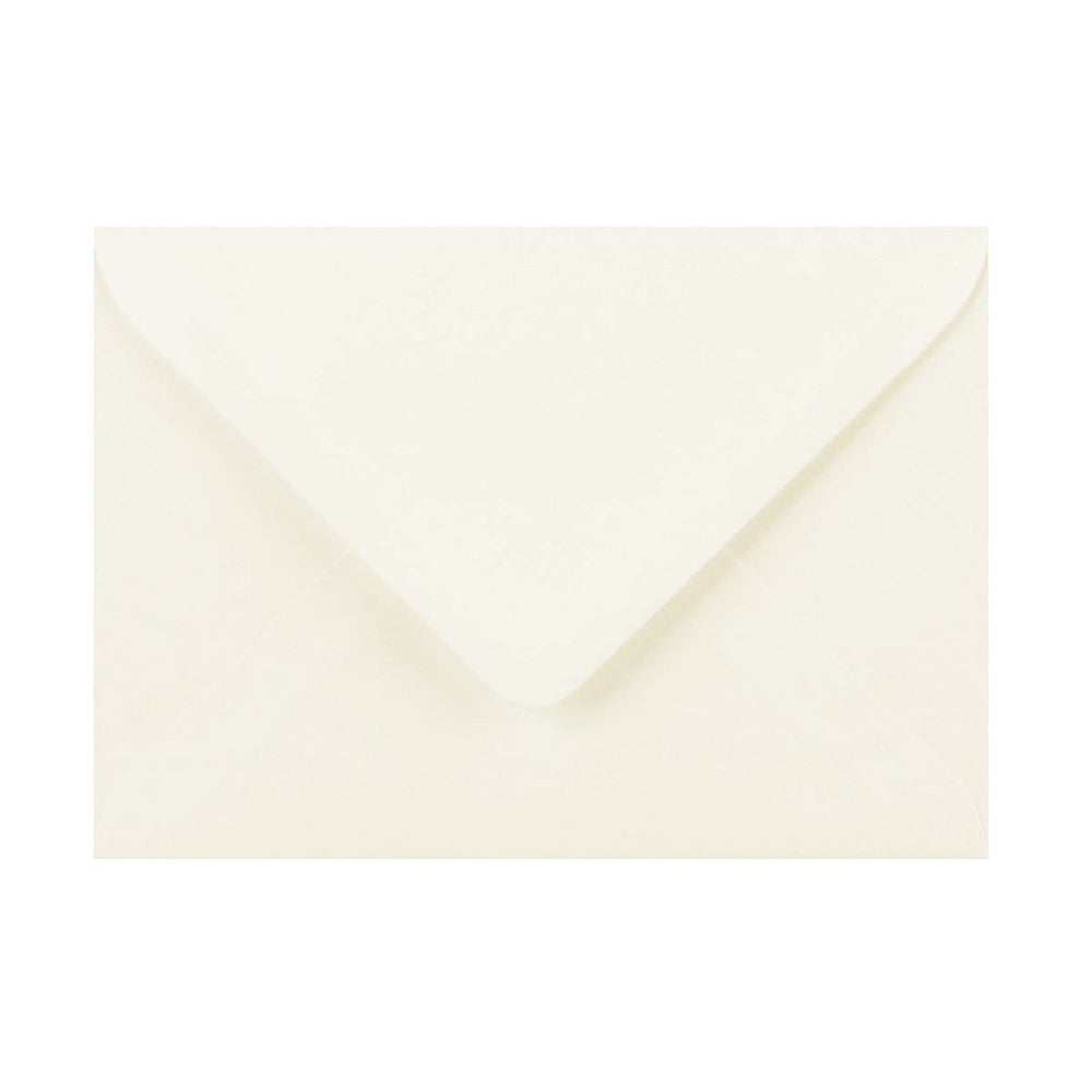 125 x 175 Ivory Laid Gummed Diamond Flap Greeting Envelopes [Qty 1,000]